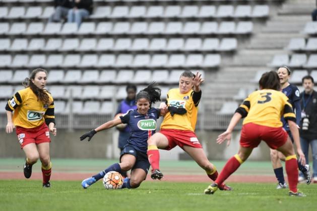 Cruz, en position d'attaquante, a ouvert le score (photo TeamPics/psg.fr)