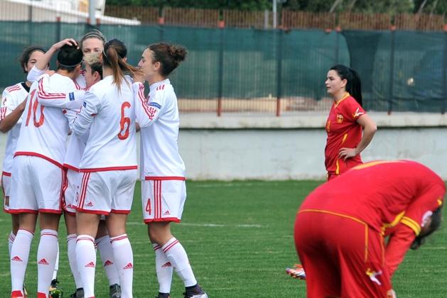 Les Espagnoles tranquillement vainqueurs (photo : sefutbol)