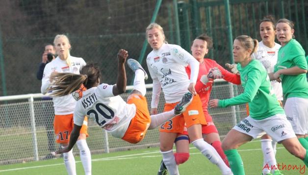 Montpellier a buté sur la défense stéphanoise (photo Anthony/ASSE féminines)