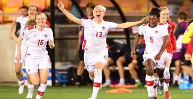 Les Canadiennes, médaillées de bronze à Londres, défendront leur médaille (photo CONCACAF)