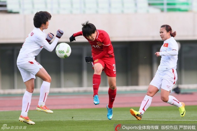 Zhang Rui a inscrit le second but sur un penalty