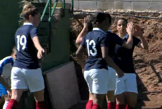 La joie tricolore après le troisième but (image La MangaTV)