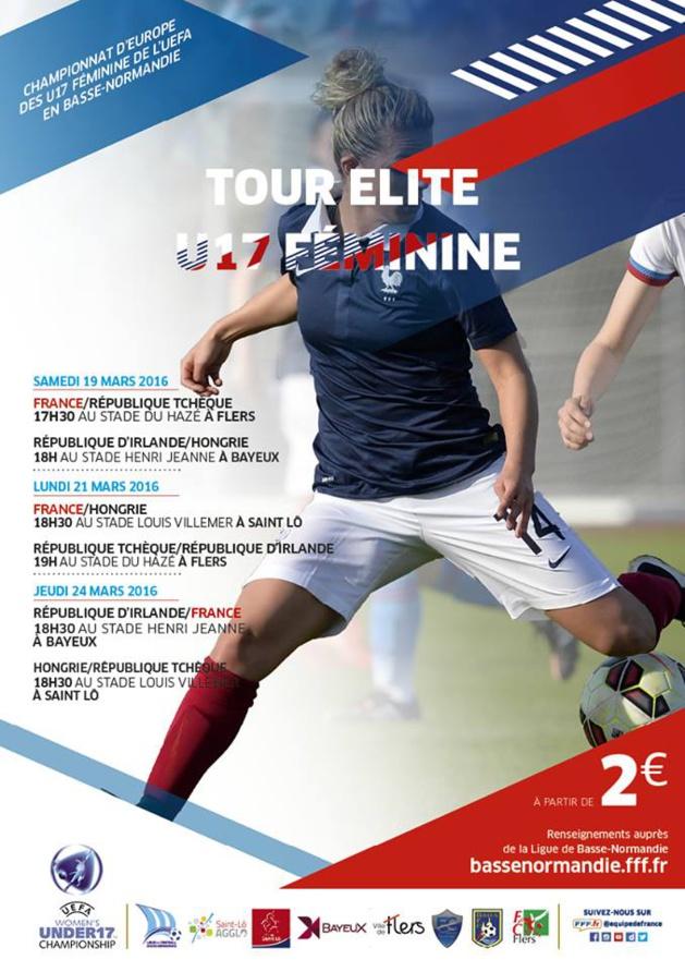 U17 - Venez encourager les Bleuettes en Basse-Normandie