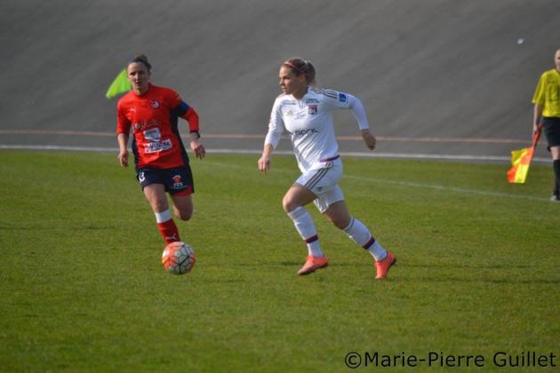 Le Sommer a inscrit son huitième but de la saison (photo Marie-Pierre Guillet)