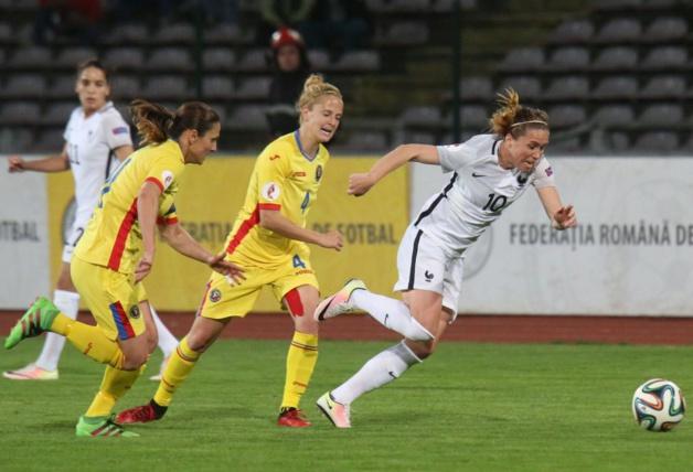 Camille était titulaire face à la Roumanie et l'Ukraine (photo A Mesa/FFF)