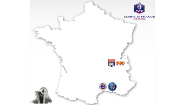 Coupe de France (Demies) - MHSC - PSG : 2-2 (tirs au but 4-3), LYON - RODEZ : 9-0 (terminé)