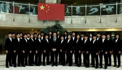 Bruno Bini et la sélection chinoise (photo DR)