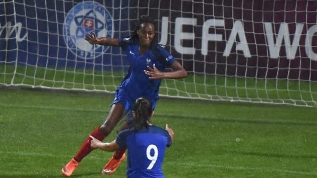 Katoto a inscrit le 2e but français face à l'Espagne (photo UEFA.com)