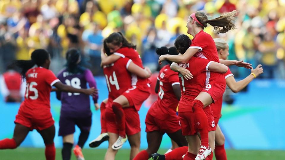 Le Canada s'impose devant le public brésilien (photo FIFA.com)