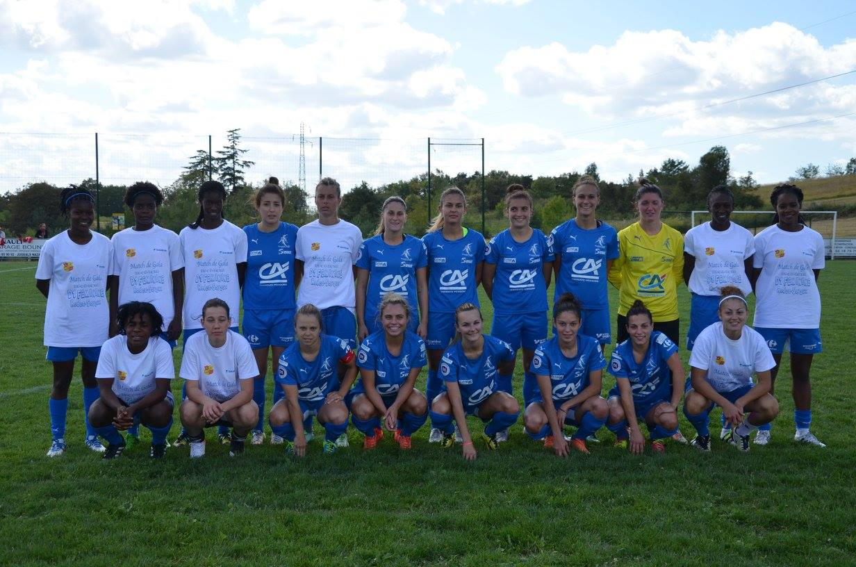 Les Sojaldiciennes lors du match de préparation face à Rodez (1-1)
