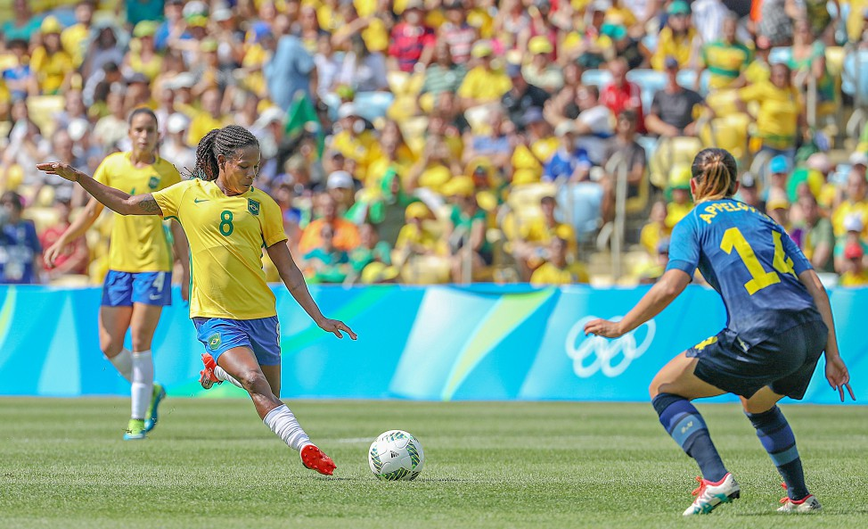 Formiga est la plus capée des Brésiliennes avec 140 sélections (photo CBF)