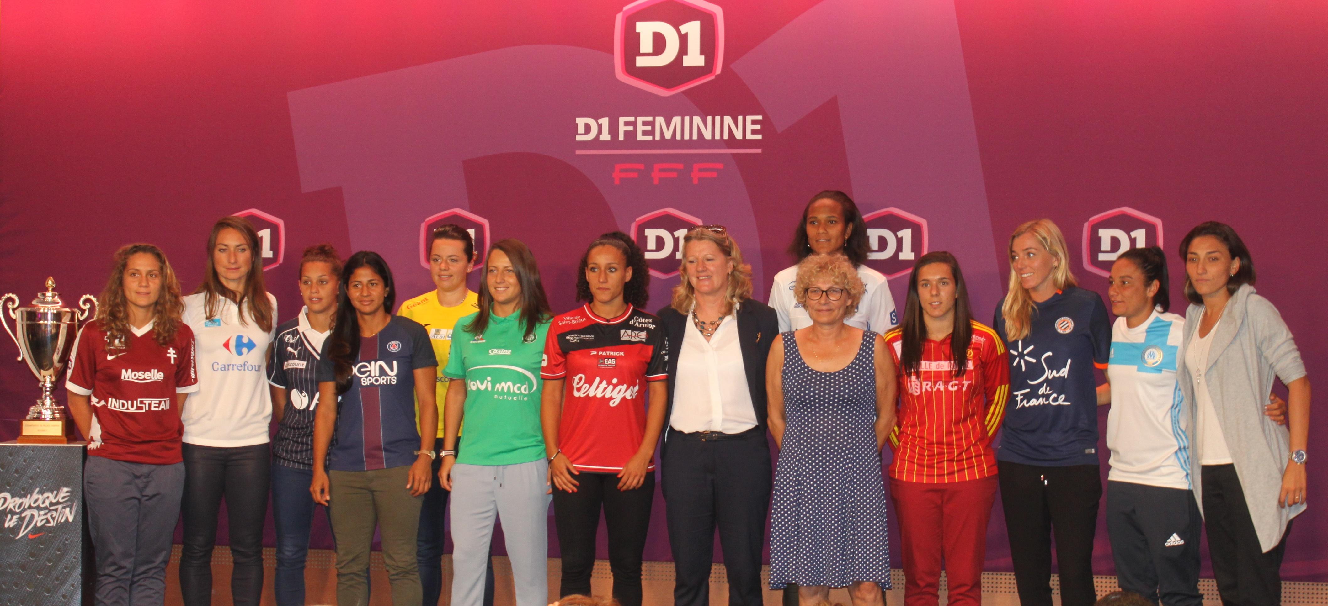 Les représentantes féminines lors de la conférence de presse (photo Sébastien Duret)