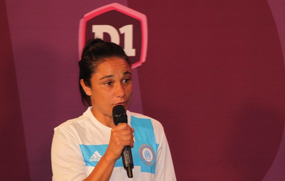 Sandrine Bretigny pourra jouer en D1 à compter de la troisième journée (photo Sébastien Duret)