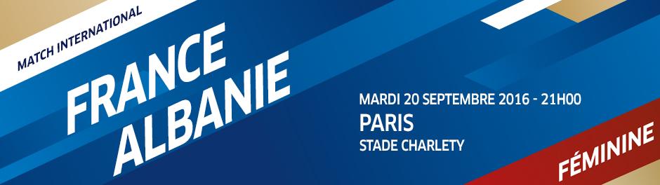 Bleues - FRANCE - ALBANIE, le 20 septembre, au stade Charléty