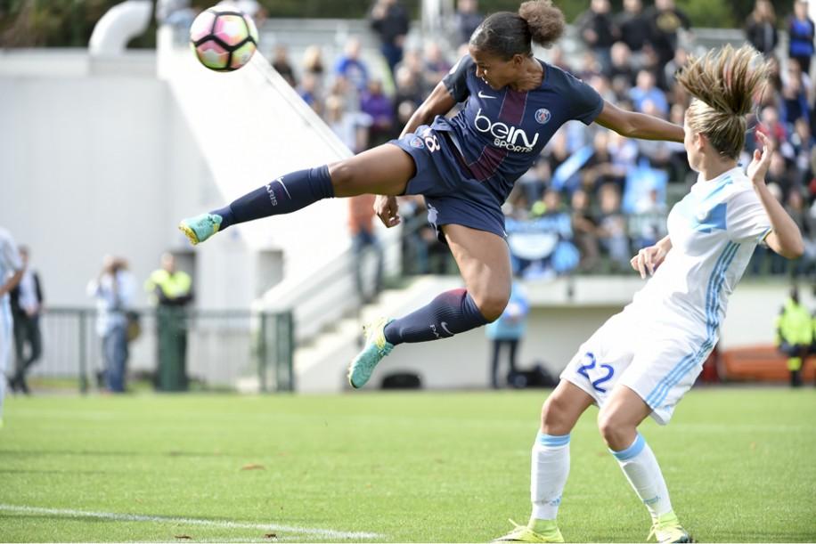 Delie a inscrit le seul but de PSG - OM (photo PSG.fr)
