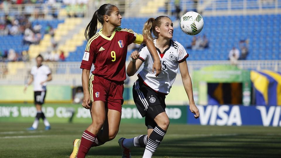 Les Allemandes ont dominé le Venezuela (photo FIFA.com)