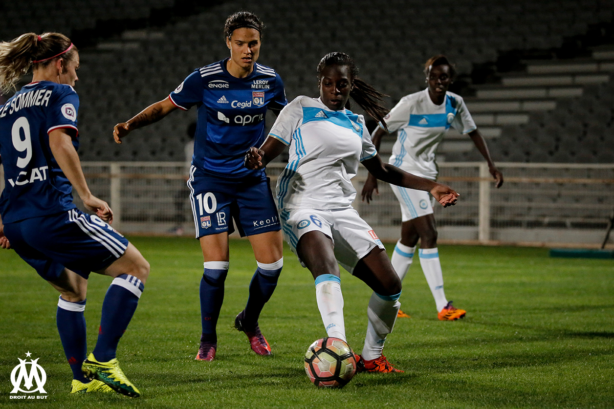Asseyi est la première joueuse de la saison a marqué contre Lyon en D1 (photo Meryll Vian/OM.net)