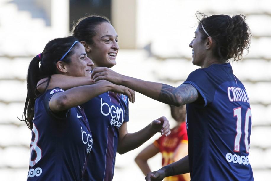 Cruz, Boussaha et Cristiane (photo PSG.fr)