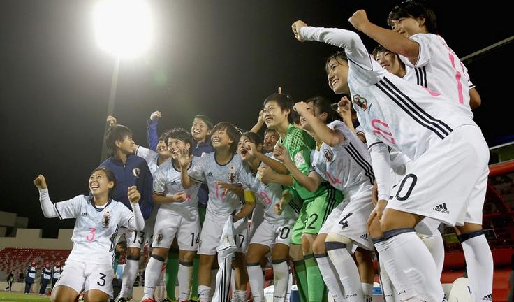 Les Japonaises fêtent leur qualification (photo FIFA.com)