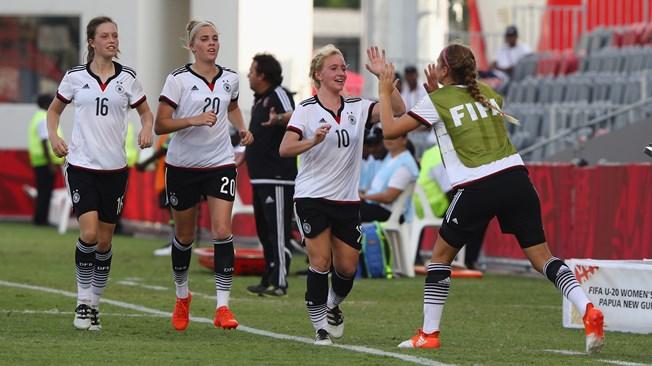 Les Allemandes prennent les devants (photo FIFA.com)
