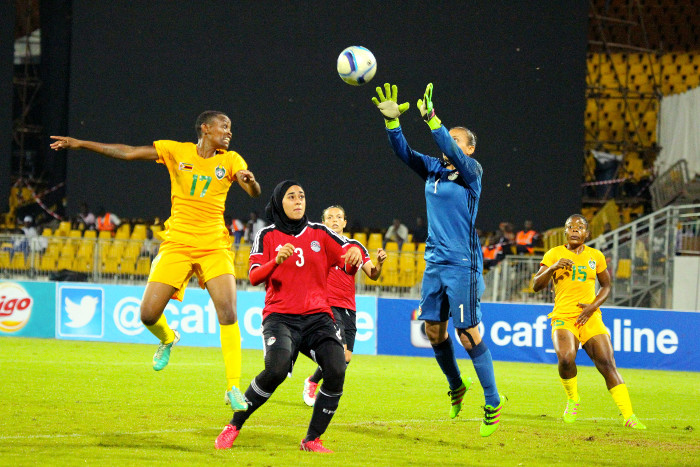 la gardienne égyptienne a préservé son but invaincu (photo CAF)