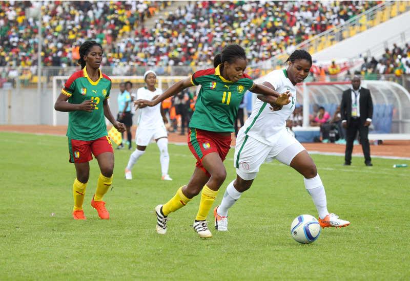Oparanozie (n°9) offre la victoire aux Super Falcons (photo CAF)