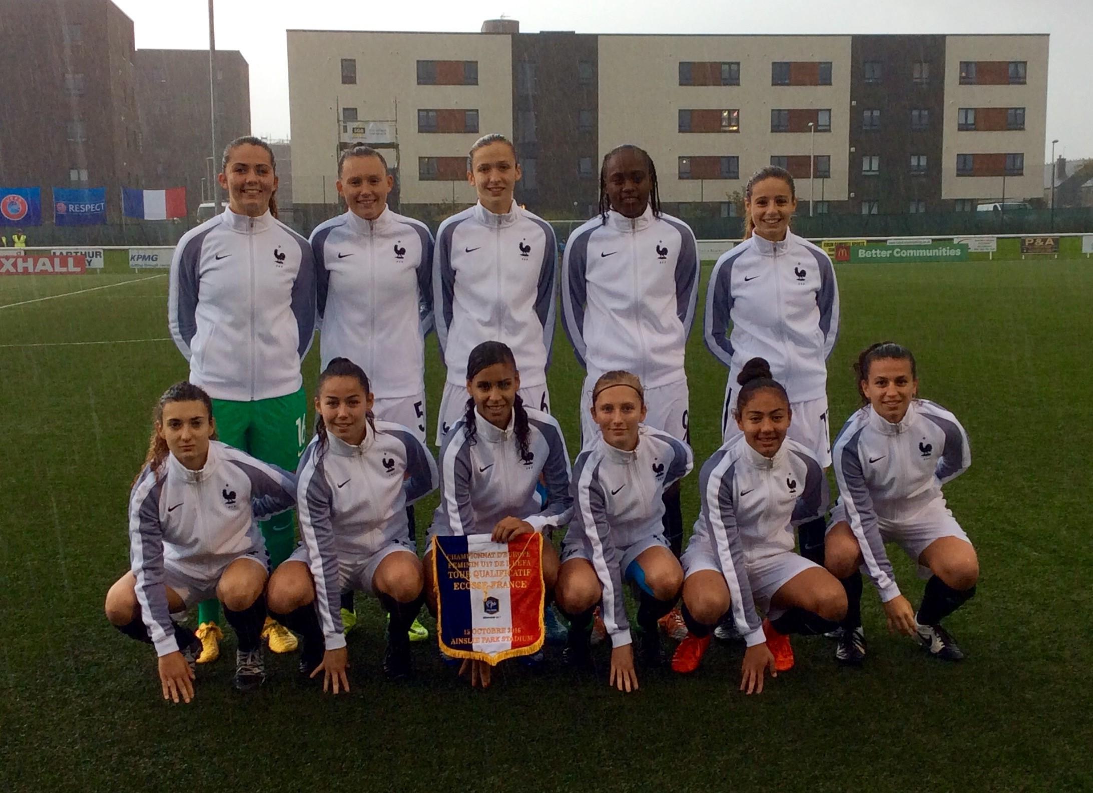 Le onze français lors de son dernier match face à l'Ecosse (photo Christine Diard)