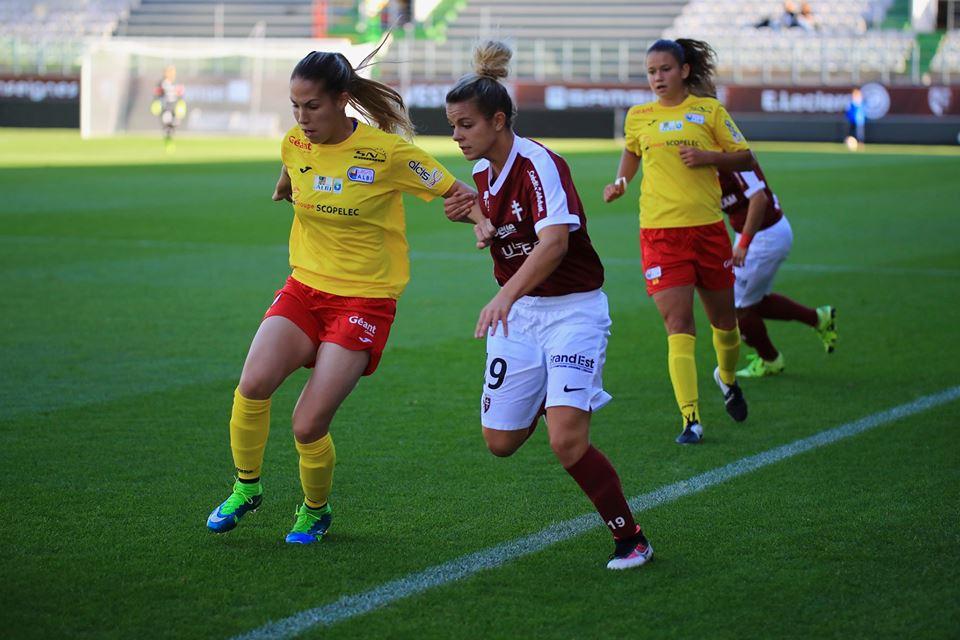 A l'aller, Solanet à droite avait marqué le but de la victoire pour Albi. Elle ne sera pas du match retour après avoir rejoint Dijon