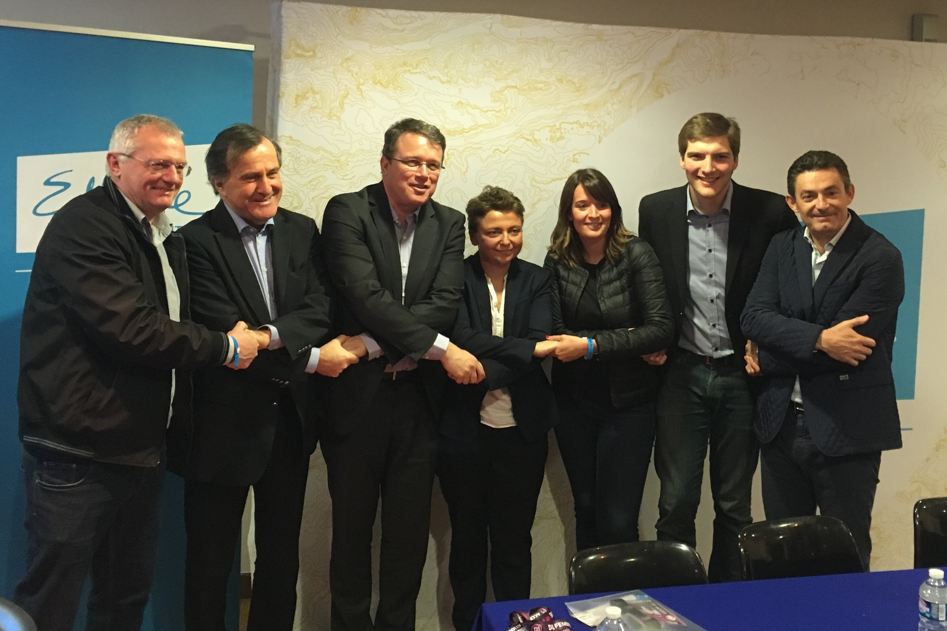 Les représentants présents lors de la conférence de presse à Bondoufle (photo lesfeminines.fr)