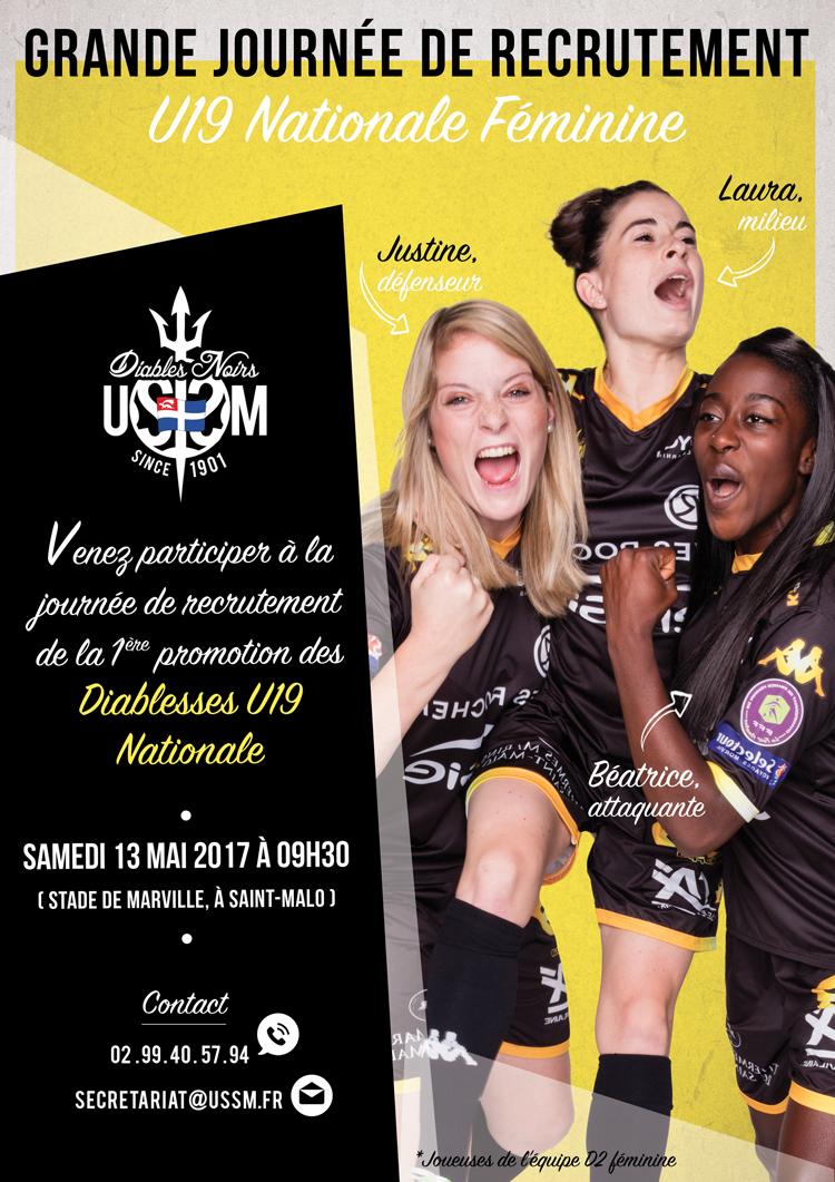 US ST-Malo, Grande journée de recrutement pour l'équipe U19 Nationale Féminine