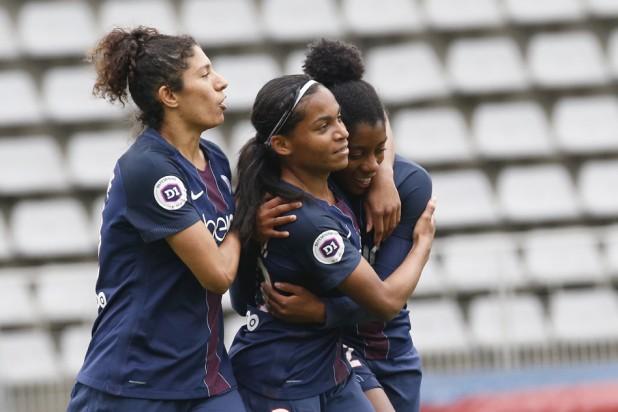 Cristiane, Morroni et Lawrence (photo PSG.fr)