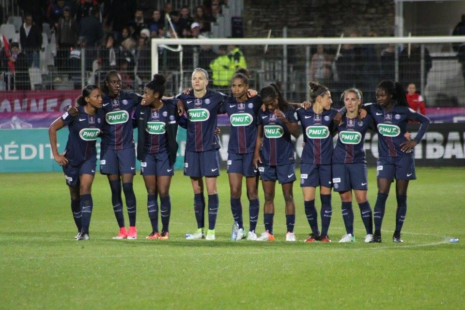 Les Parisiennes vendredi dernier lors de la finale de la Coupe de France (photo Ligue Bretagne)