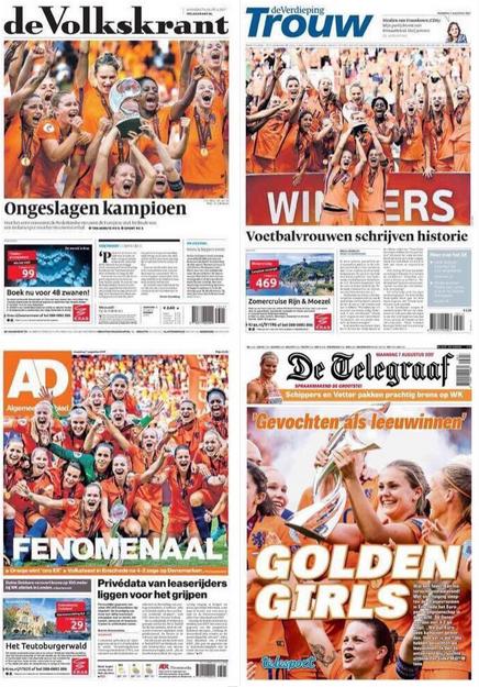 La presse néerlandaise a félicité ses championnes