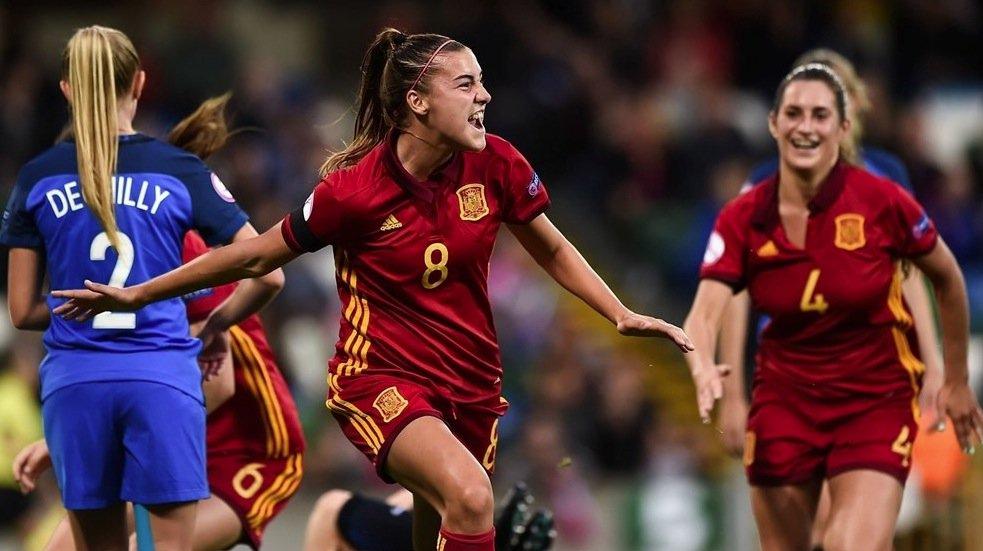 Doublé de Patricia Guijarro qui permet à l'Espagne de s'imposer (photo UEFA.com)