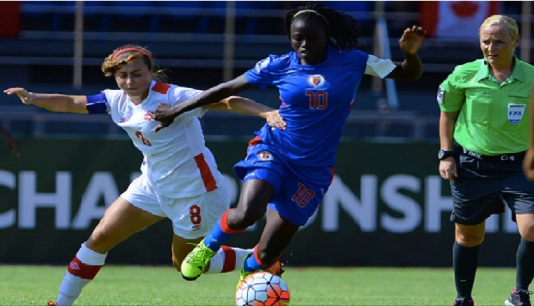 """Nerilia Mondesir et Haïti peuvent encore """"rêver"""" de jouer en France en août 2018"""