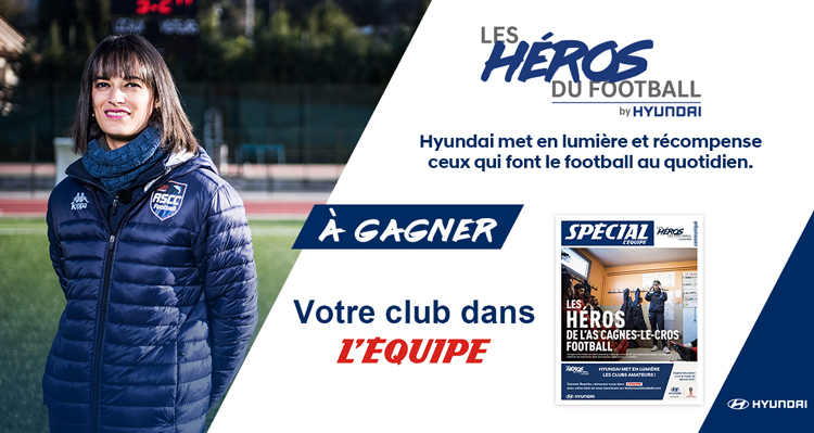 Avec les héros du football, Hyundai récompense les clubs amateurs !