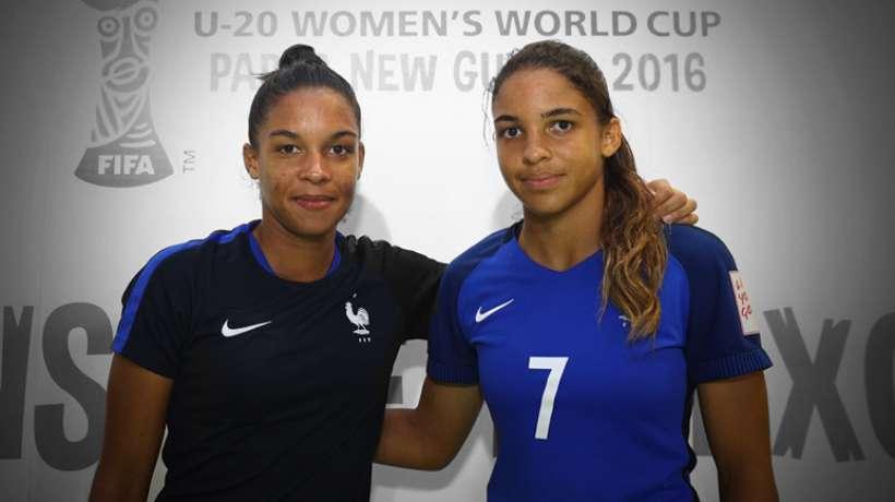 Estelle et Delphine lors de la Coupe du Monde U20 en 2016