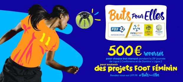 """Ligue 1 - Ligue 2 : """"Buts pour Elles"""" ce week-end sur les terrains"""