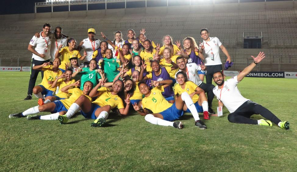 Les Brésiliennes championnes de CONMEBOL (photo : Fernanda Coimbra/CBF)