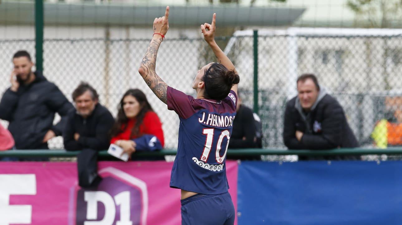 Hermoso auteur du plus beau but du match (photo PSG.fr)