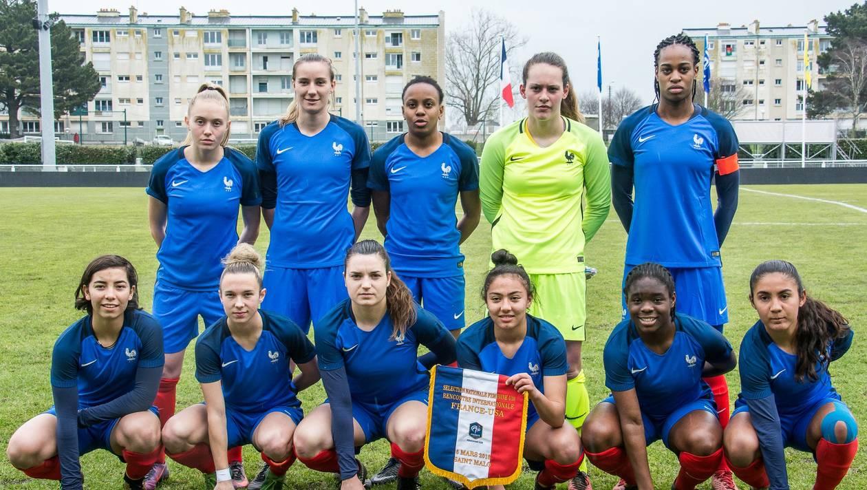 Le onze face aux Etats-Unis à Saint-Malo
