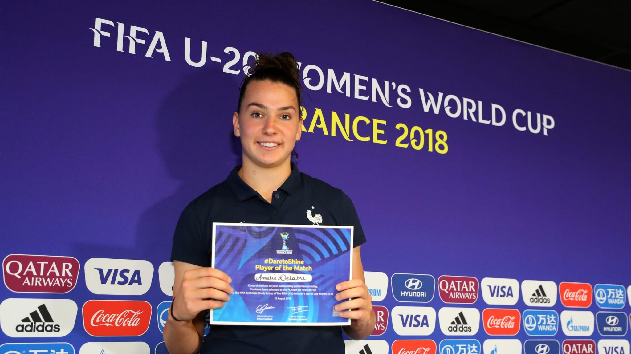 """#U20WWC - Amélie DELABRE : """"Si je peux aider l'équipe, ça me fait plaisir"""""""