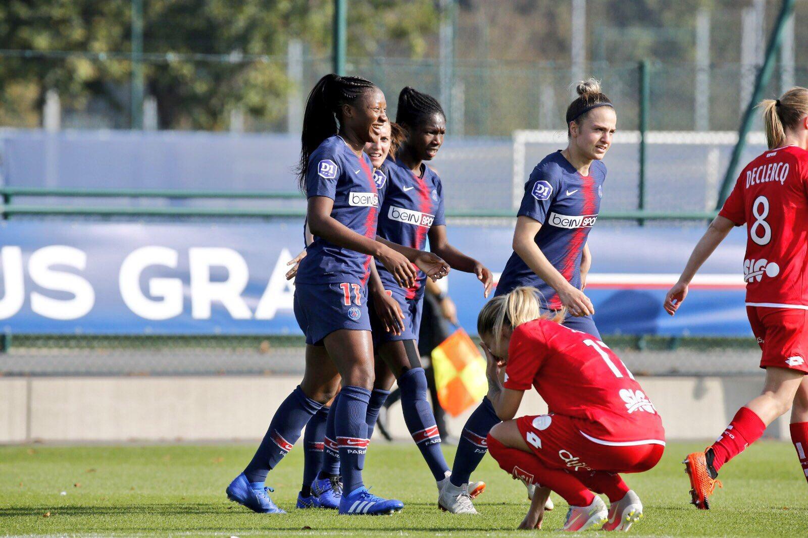 Diani a marqué le premier but et est passé proche du doublé (photo PSG)