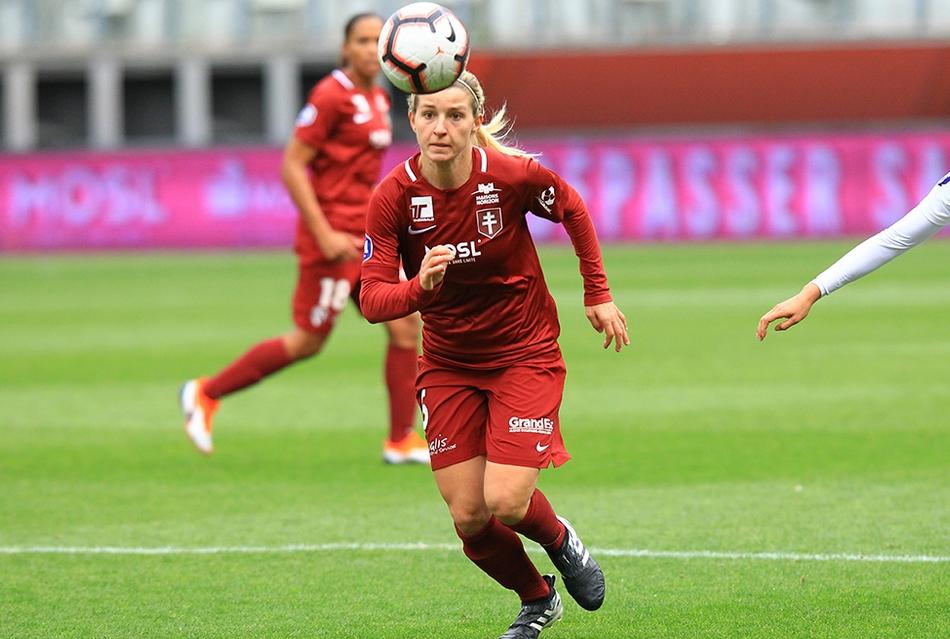 Meryll Wenger a inscrit le penalty (photo FC Metz)