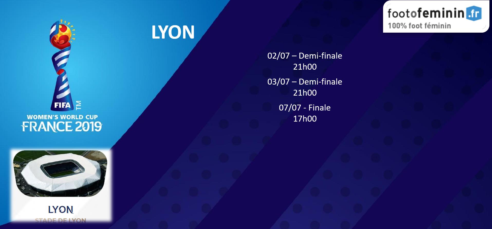 #FIFAWWC - Le calendrier de chaque ville