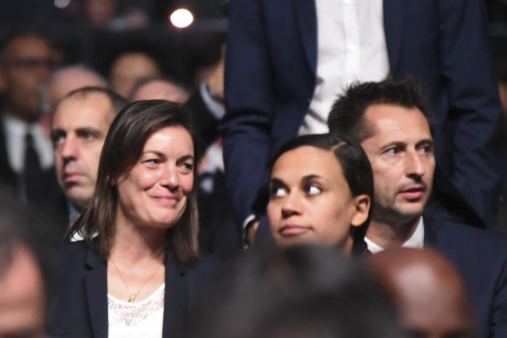 Corinne Diacre a pu apprécier le tirage aux côtés de son adjoint, Philippe Joly (photo Frédérique Grando)