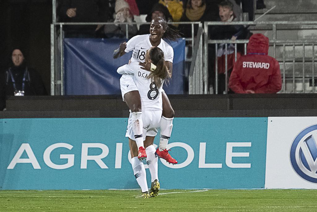 La joie d'Asseyi qui a ouvert le score (photo Eric Baledent)