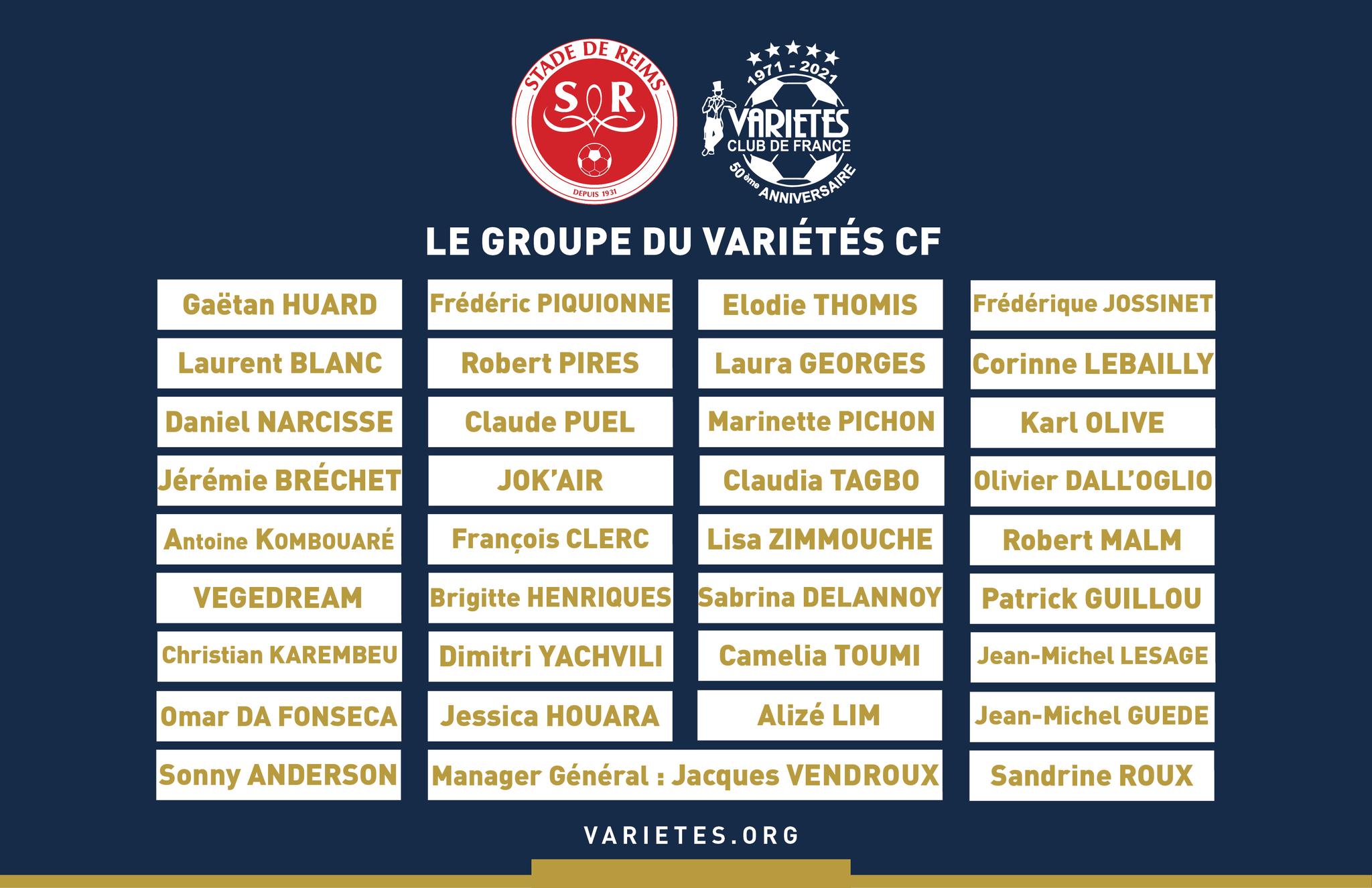 Egalité Hommes-Femmes, un match mixte du Variétés Club de France face au Stade de REIMS