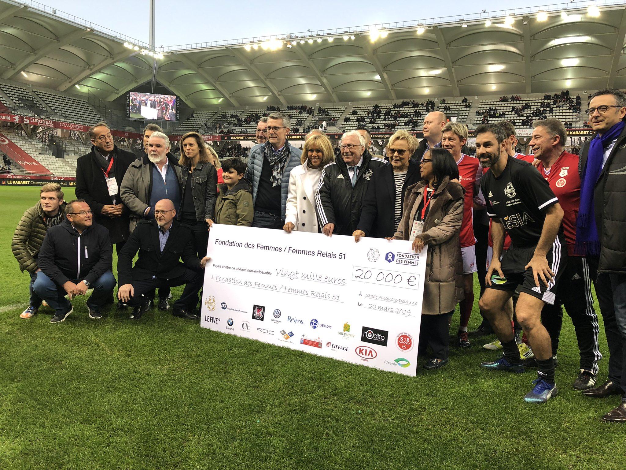 Match de gala Mixte - Les Rémois.e.s gagnent pour une bonne cause, un chèque de 20 000 € remis