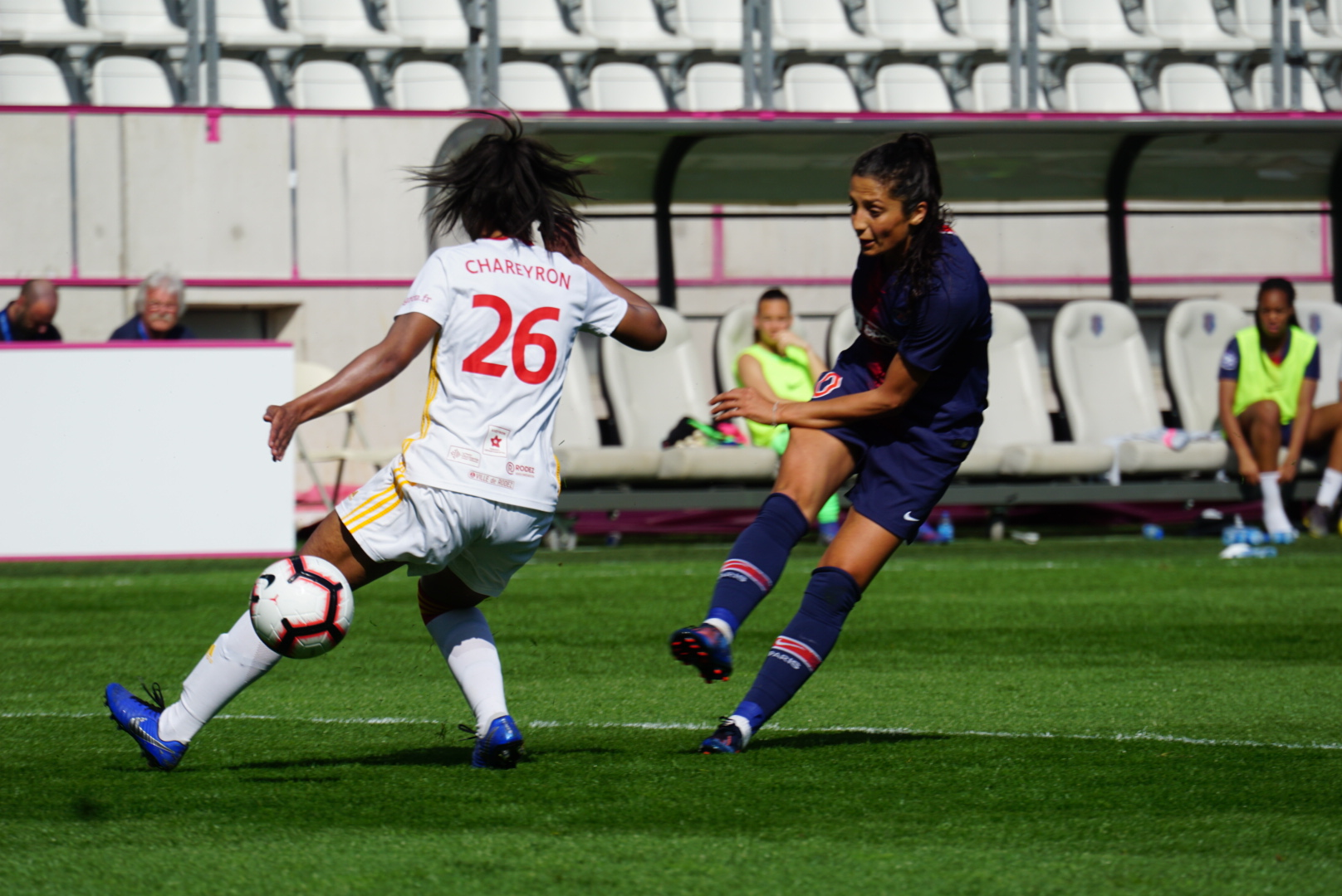 Nadim a inscrit le 3e but parisien (photo footofeminin)